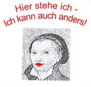 Mottokarte zum ökumenischen Frauengottesdienst 2017 (Bild von Katharina von Bora nach Lucas Cranach)