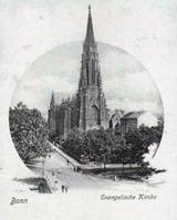 Die Kreuzkirche zur Einweihung 1871 (Foto: Dr. Trenkler/ Archiv Kirchenkreis Bonn)