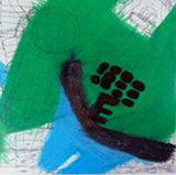 Kunstpostkarte: Achim Maaz: o.T., Wachskreide/ Kugelschreiber, 60 x 43 cm, 2010
