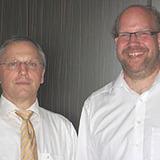 Die Schulreferenten Dietmar Klinke (l.) aus Essen und David Ruddat aus Mülheim / Ruhr begleiten die Neigungsfachkurse Religion.