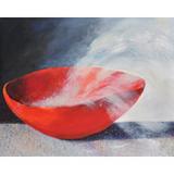 Heidi H. Kuhn, Rote Schale. Öl auf Leinwand, 1013, 80 x 100 cm