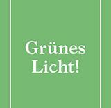 """Grünes Licht! - für den neuen """"Kipa"""" auf dem Vorplatz der Kreuzkirche. Botschaft zur Einladung zur Eröffnung (Bild: Büro Zoo)"""