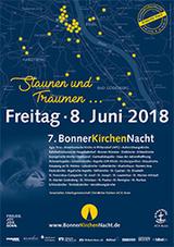An die 15.000 Menschen werden wieder zur langen Nacht der Kirchen in Bonn erwartet: Freitag, 8. Juni 2018 ab dem frühen Abend bis in die Nacht