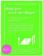 Schon 30 Gerichte sind in Vorbereitung und die Bibel ist quasi das Kochbuch