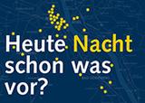 Frage mit Augenzwinkern auf der Postkartenaktion zur 7. Bonner Kirchennacht: Tausende Karten gibt es zum Mitnehmen und Verteilen in Bonner Kneipen und Gaststätten
