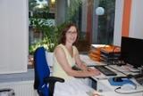 Auch für die Mitarbeitenden wurde gesorgt: Schulreferentin Beate Sträter im neuen Verwaltungsbüro.