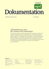 """""""Whistleblowing"""" oder: Der Aufstand der Anständigen. epd-Dokumentation 04/12"""