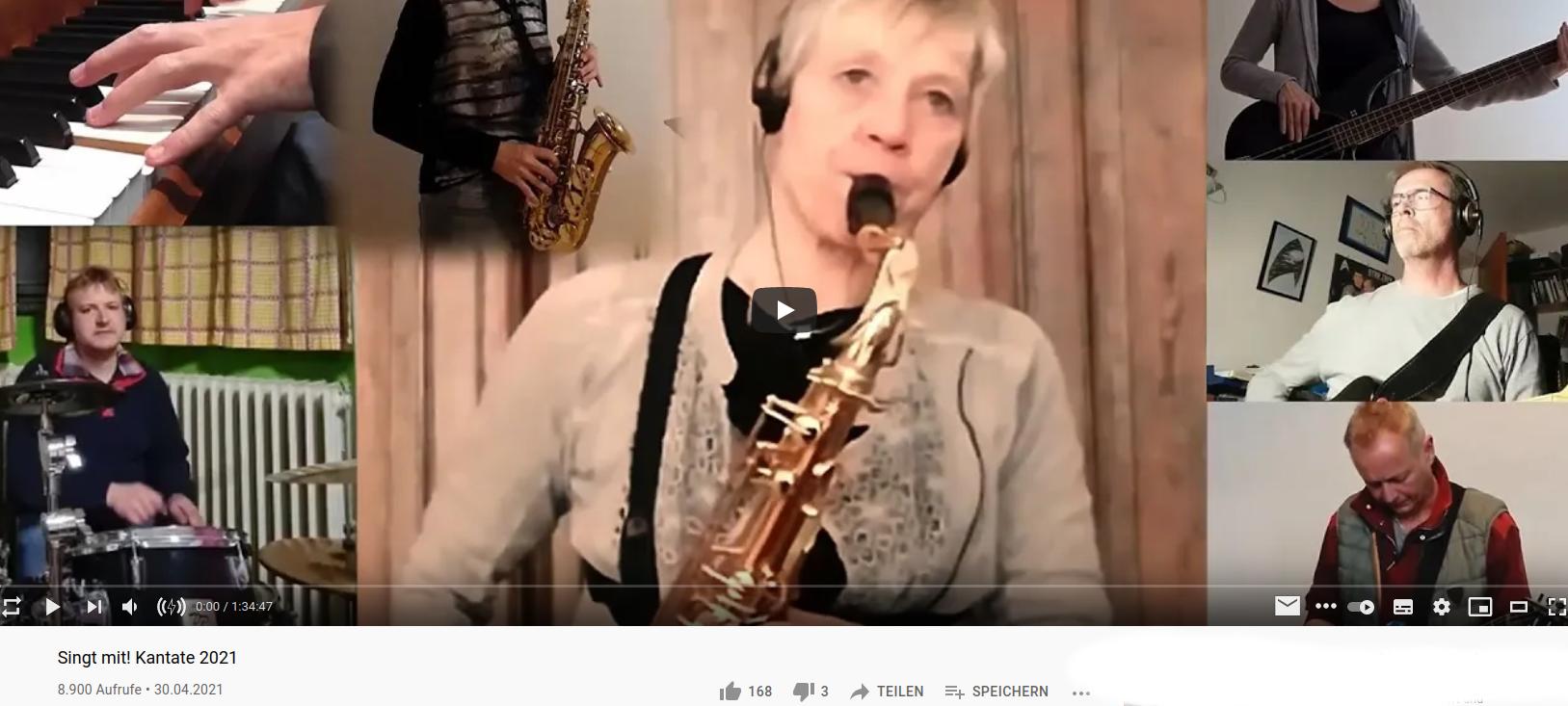Screenshot Musikvideo Kantate 2021 auf ekir.de